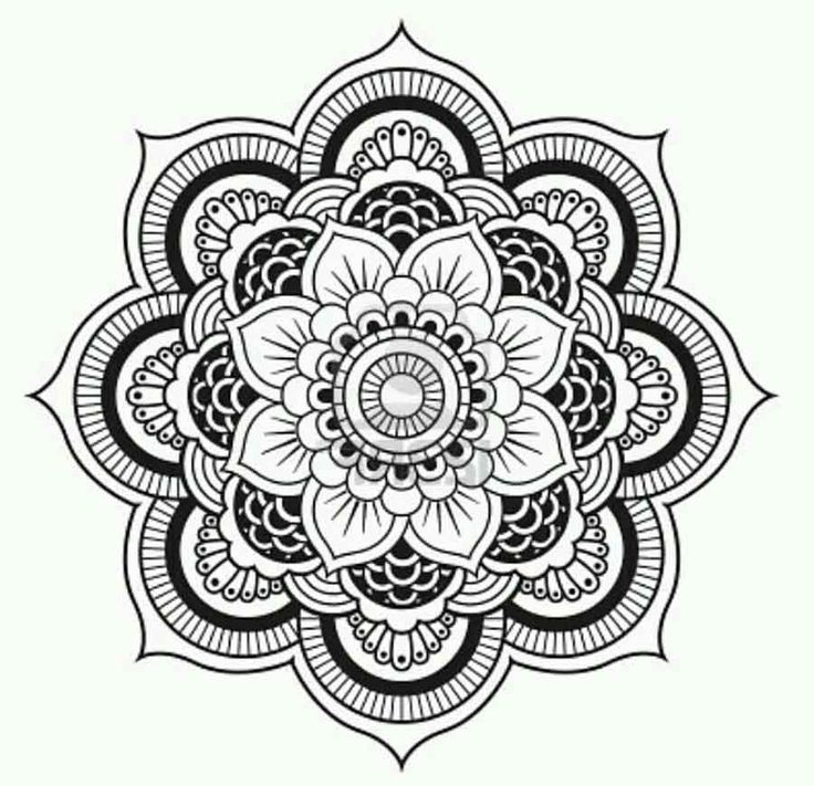 8 best mandala flowers images on pinterest mandalas adult coloring pages and coloring books. Black Bedroom Furniture Sets. Home Design Ideas
