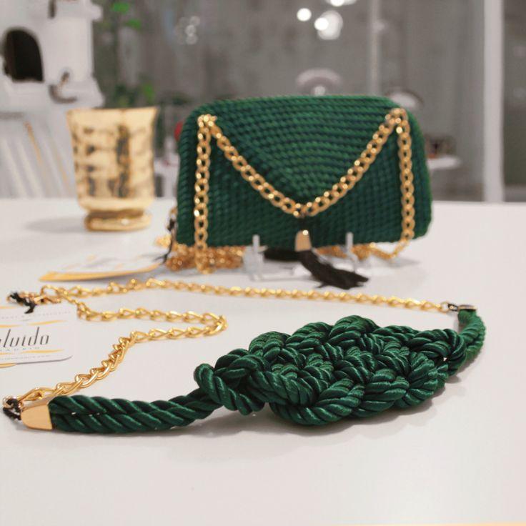 ● Bolso & Cinturón de cordón de seda | Modelos Triana e Isabel | Diseños de OLVIDO MADRID  www.olvidomadrid.es