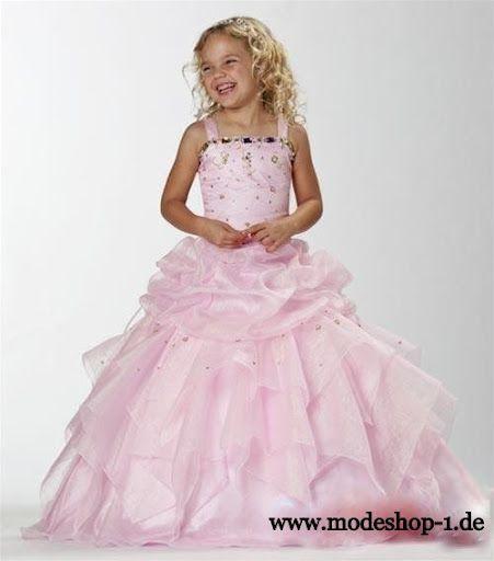 Kinder Mode Mädchen Abend Kleid Nelke www.modeshop-1.de