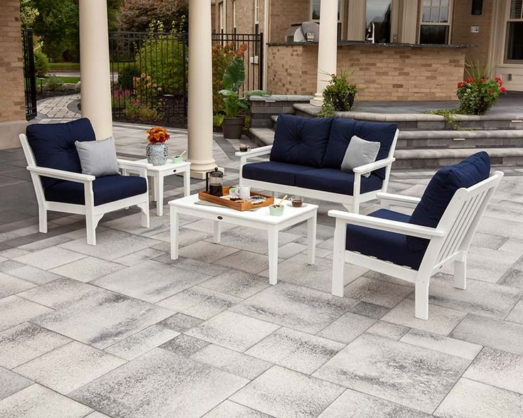 Vineyard 5 Piece Deep Seating Set   POLYWOOD   Outdoor Furniture