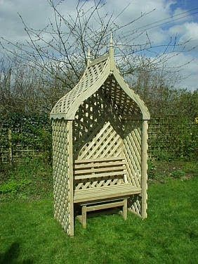 India - Grandad's Garden - Designed and made by country carpenters in the old fashioned way. Quality cottage garden furniture and fittings, Arbour seats, Gazebos.