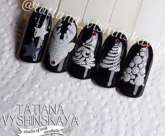 #Black #Silver #Christmas
