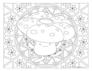 Free Printable Pokemon Coloring Page Vileplume Visit Our For More Fun All Ages Adults And Children