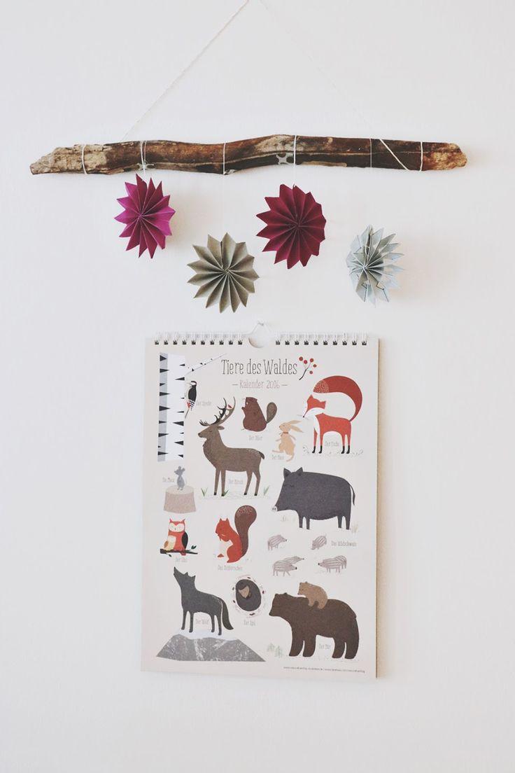 Tiere des Waldes - Kalender für Kinder von vierundfuenfzig