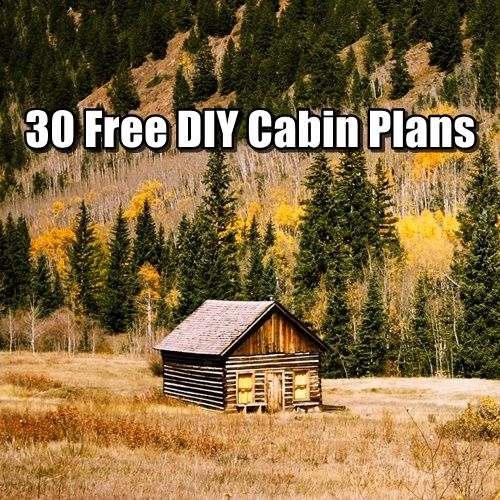 Free DIY Cabin Plans. Download 30 FREE DIY cabin plans and have your dream get away location built in no time.