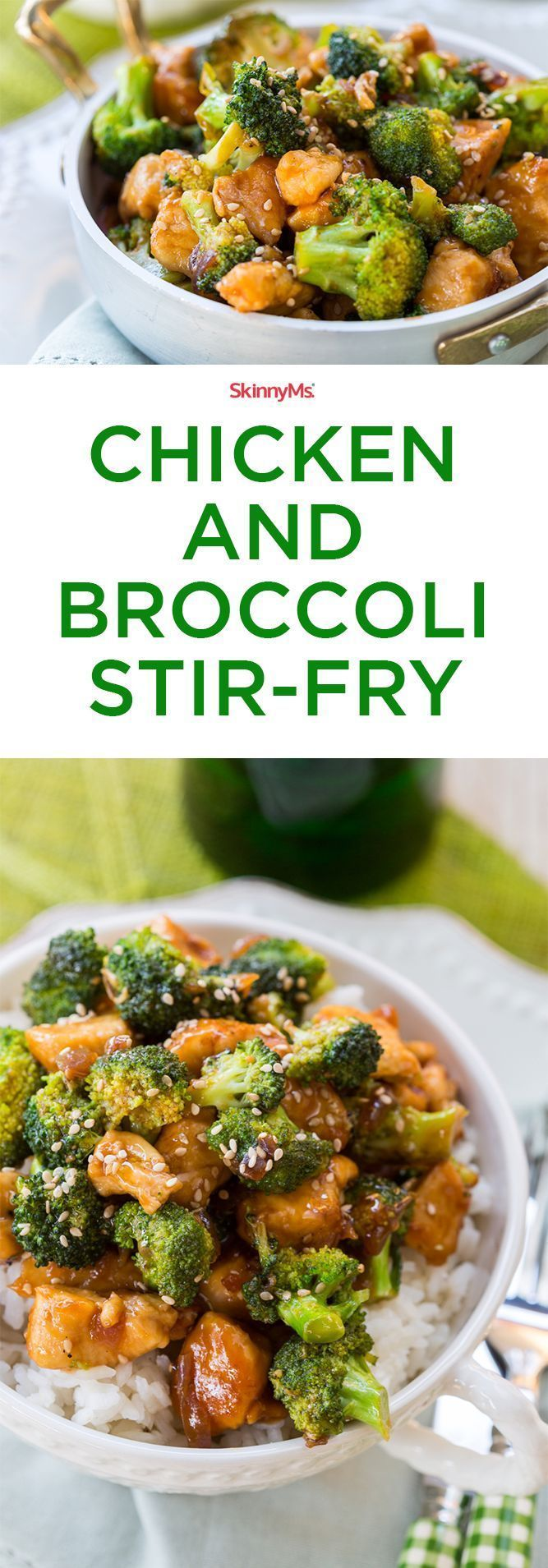 Our Chicken & Broccoli Stir-Fry is an excellent dinner option. Try it tonight! #cleaneating #healthyeats #menuplanning