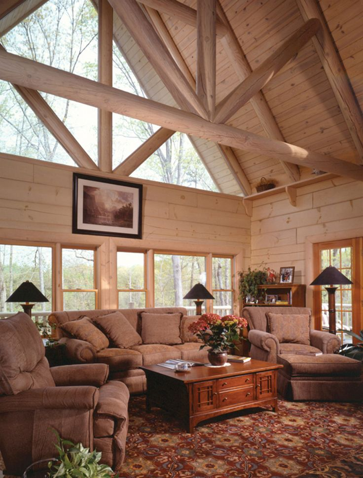 Rustic Home Plan Living Room Photo 01