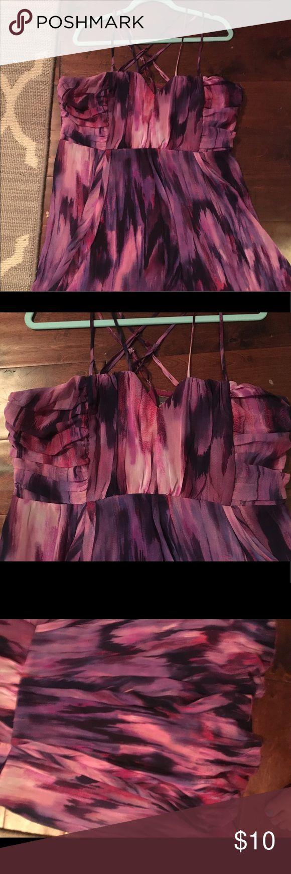 Purple Party Dress Super fun & flirty Purple Party Dress. Empire Waist. Strappy top. Dots Size 20 Dots Dresses