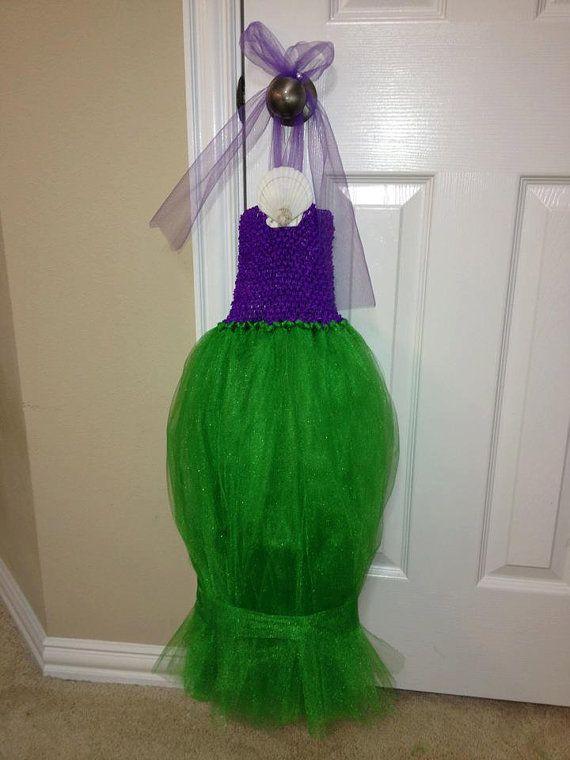 Little Mermaid Tutu Tulle Dress Costume by HappyCrabBoutique, $39.00