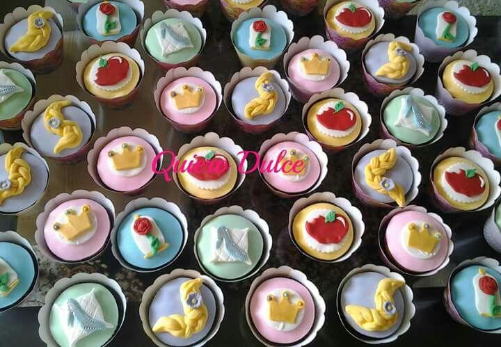 Cupcakes para fiesta de princesas