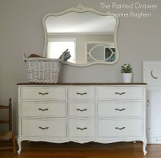 a vintage drexel heritage set in white, bedroom ideas, chalk paint, painted furniture, repurposing upcycling