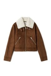 <p>The Cammen Jacket is a key piece for the coming cold season. Fully lined with an imitation shearling, it has a boxy fit, a wide collar with a belt detail, a metallic zipper along the front and zipped pockets.<br /><br />-The model is 178 cm tall and wears size 38, that measures 107 cm in chest circumference,51 cm in length and 64 cm in sleeve length.<br /></p>