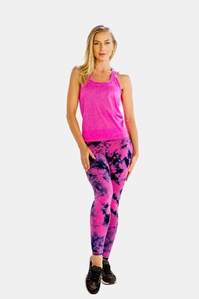 25% OFF!! Buy Womens Self-Patterned Bright Pink #Tank #Top at Alanic Activewear.