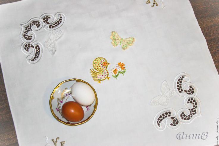 Купить салфетка вышитая декоративная Светлая Пасха - салфетка пасхальная, салфетка на пасху, салфеточка для пасхи