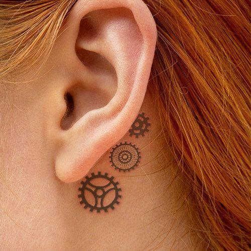 Gears Steampunk Tattoo