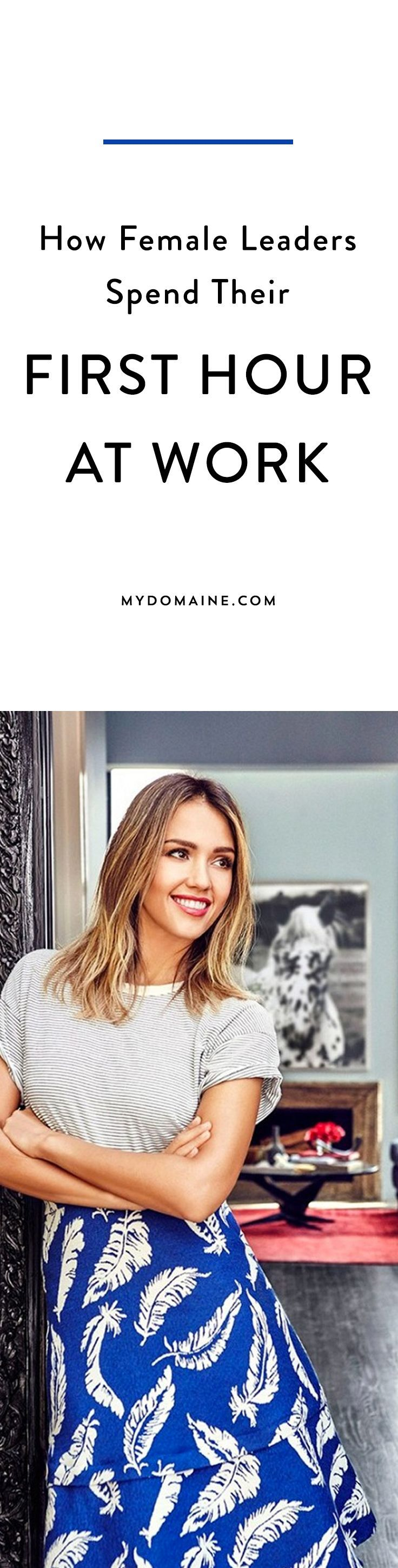 How 7 Female Leaders Spend Their First Hour at Work http://www.mydomaine.com/female-leaders-work-routine/slide4