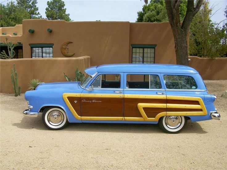 1953 Ford Woody Wagon , my dad's car without the wood..
