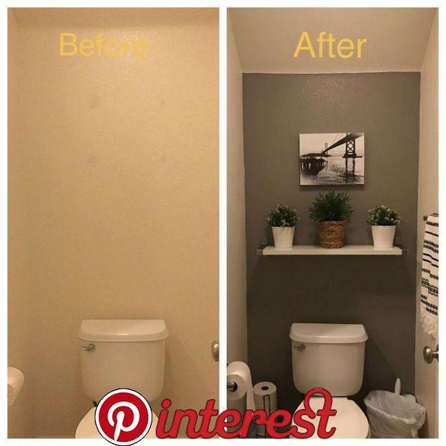 20 Beautiful Half Bathroom Remodel Cost Ideas And Galleries In 2020 Half Bathroom Remodel Small Half Bathrooms Small Bathroom Decor