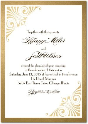 Signature White Wedding Invitations Love and Luster - Front : Umber