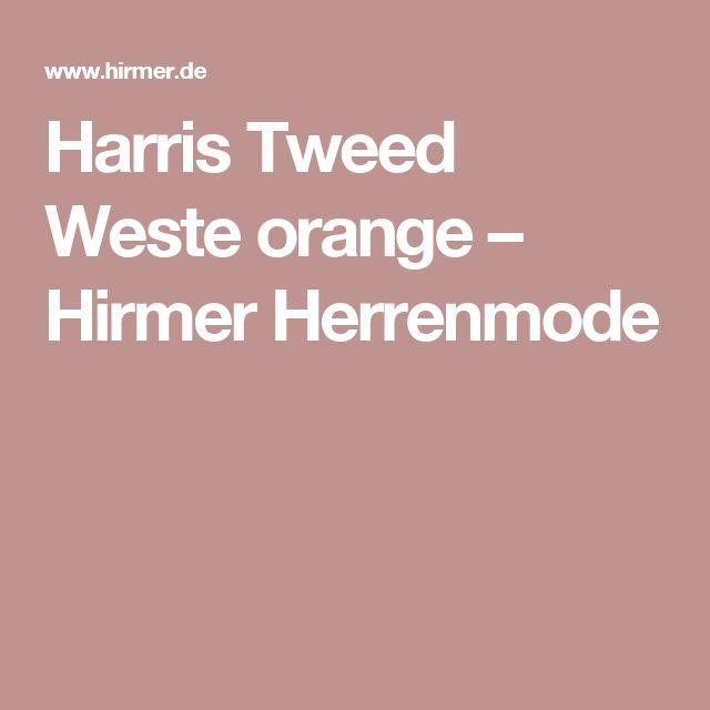 Harris Tweed Weste orange  – Hirmer Herrenmode