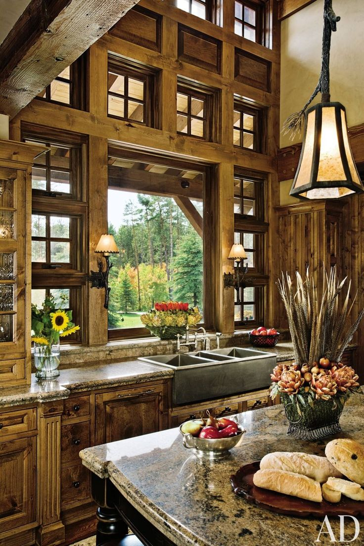 Dream Rustic Kitchens 95 Best Rusticmountainlog Kitchens And Dining Rooms Images On