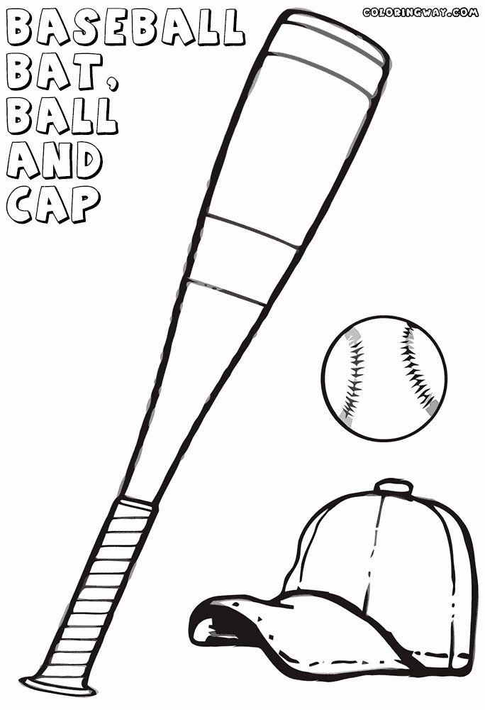 Baseball Bat Coloring Page Awesome Baseball Bat Coloring Pages