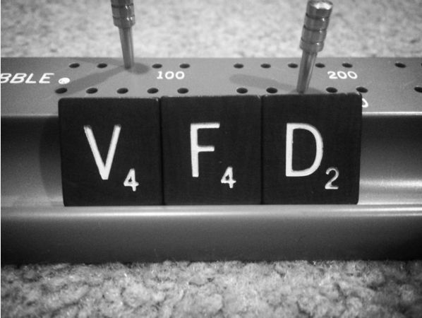 """Chuckling every time you heard anyone accidentally say something with the initials VFD. 