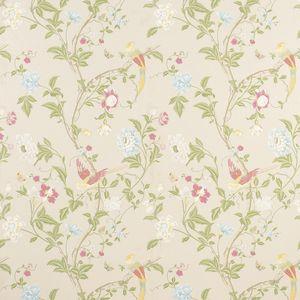 Summer Palace Linen Floral Wallpaper
