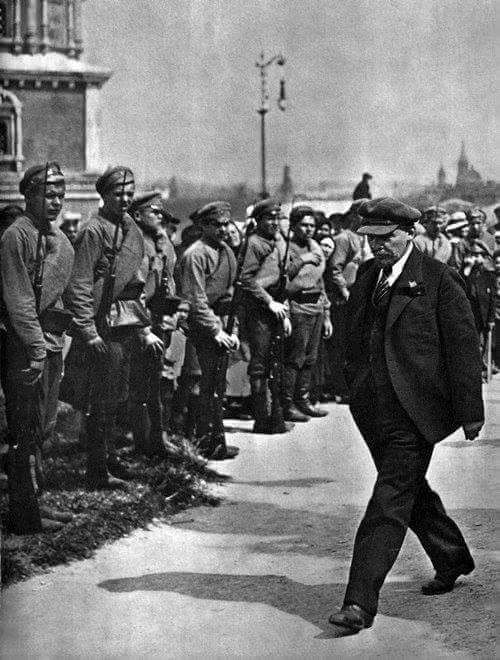 Lenin Visiting Early Formed Red Army