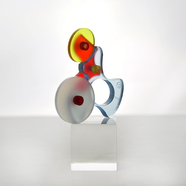 """""""Cyborg Tilt"""" Ring (front), by E Georgakopoulos, 2013."""