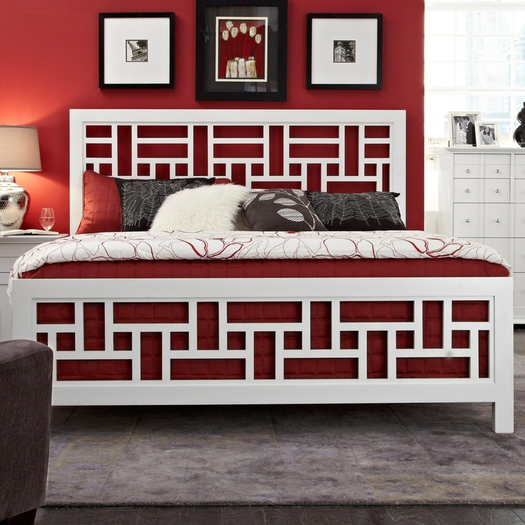 Perspectives Queen Lattice Bed by Broyhill Furniture   White Bedroom. 80 best Beauty of Broyhill images on Pinterest