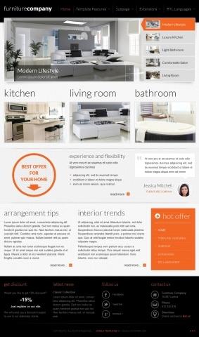 JM-Exclusive-Furniture, orange template version
