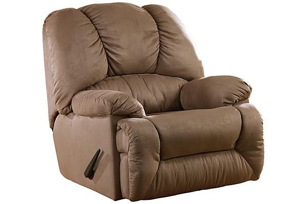 """The Duraplush - Mocha Rocker Recliner from Ashley Furniture HomeStore (AFHS.com). The """"Duraplush™"""" rocker recliners feature soft upholstery and plush contemporary styling to create the ultimate in relaxing furniture that is perfect for any living environment."""