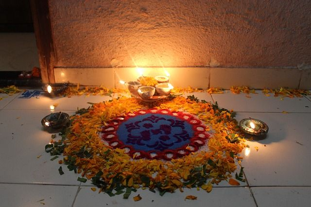 Diwali Rangoli #rangoli #diwali http://www.shalusharma.com/guide-to-diwali-indian-festival-of-lights/