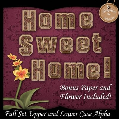 Limited time digital Scrapbooking alpha, paper and flower freebie
