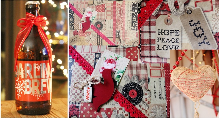 Country Christmas Wrapping- http://justdarlingblogger.blogspot.com/2012/12/a-country-christmas-at-dows.html