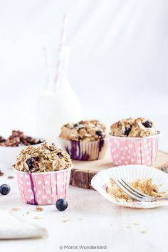 Healthy Breakfats Muffins with Blueberries • from Maras Wunderland