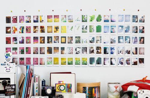 Polaroid display: Wall Decor, Idea, Wall Color, Wall Murals, Polaroid Display, Polaroid Wall, Photos Wall, Minis, Photos Display