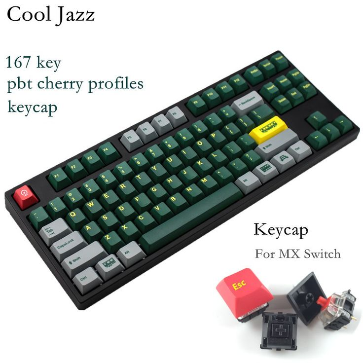 Cheapest prices US $97.58  Cool Jazz 167 keys hot Sublimation green train pbt keycaps for MX switch gaming mechanical keyboard   #Cool #Jazz #keys #Sublimation #green #train #keycaps #switch #gaming #mechanical #keyboard  #OnlineShop