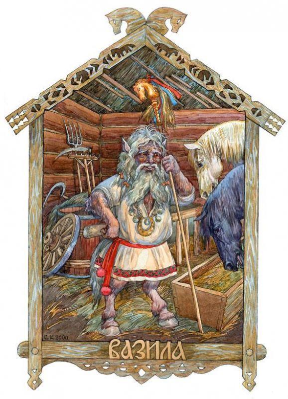 Białoruski Waziła jest duchem pomocniczym Wołosa, Tym Który Pokrywa i Ochrania Klacze