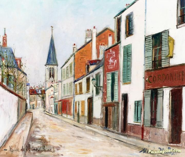 Église De Stains (seine) Artwork by Maurice Utrillo
