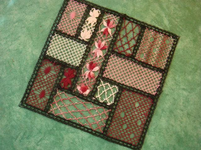 patchwork en dentelle