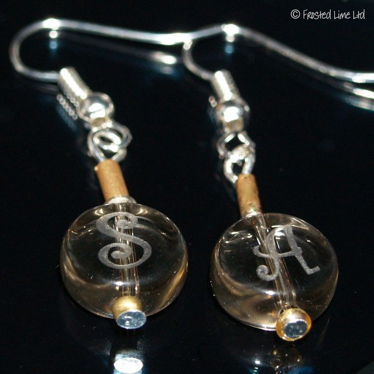 Free Personalised Engraving Onto Our Initial Gl Earrings Fab Present Http