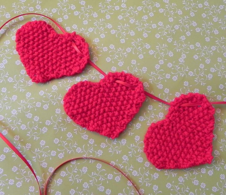 10 Best Knitted Hearts Images On Pinterest Knitting Patterns