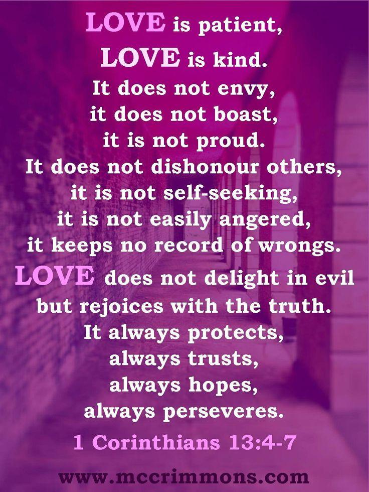 1 Corinthians 13: 4 7