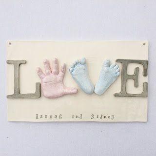 TheBabyHandprintCompany: Sibling Keepsake Clay Ceramic Art, Ceramic Hand Print Keepsake, Gift For The Grandparents, Prints In Clay, Online Ceramic Hand Prints, Baby Handprints, Custom Nursery Room Art, Personalized Nursery