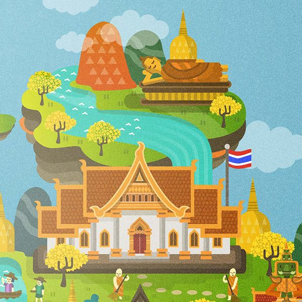 Thailand Illustration on Behance