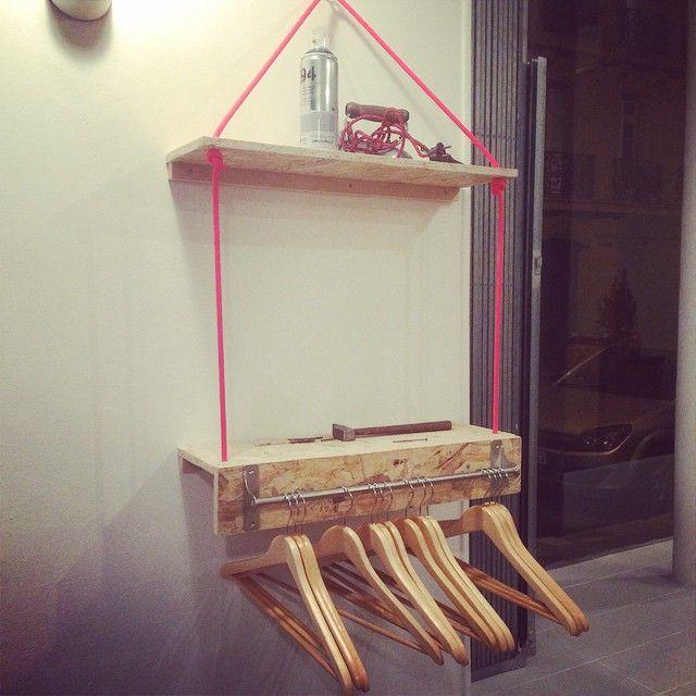 Étagères et présentoirs en bois et corde d'escalade - Hand Made / Home Made - Réalisé par TULAVU l'Équipe