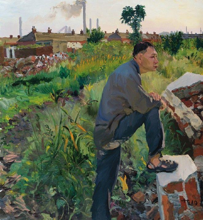 Liu Xiaodong, Han Shengzi Buys Land, 2010, Oil on Canvas, 150 x 140 cm