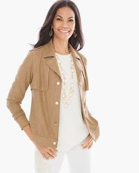Foiled Perforated Jacket #chicos
